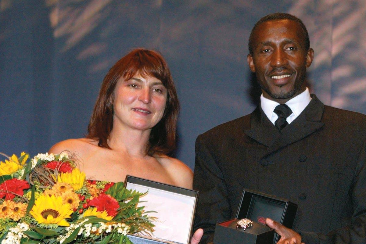Sportler mit Herz 2004 – Birgit Fischer und Linford Christie
