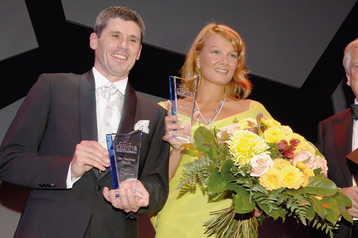 Sportler mit Herz 2005 – Dr. Markus Merk und Franziska van Almsick